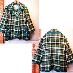 Anthropologie, Tabitha Plaid Coat